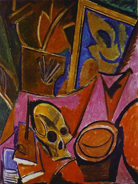 Composition with Skull, 1908, Picasso Pablo, Hermitage, St. Petersburg paintings to artist of ArtRussia