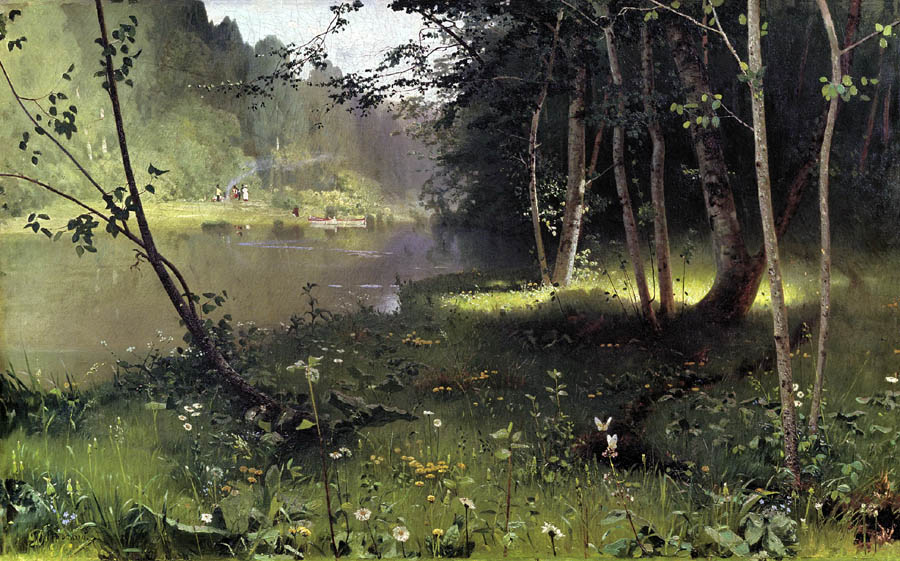 Forest river, Dubovskoy Nikolai, The Art Museum, Odessa paintings to artist of ArtRussia