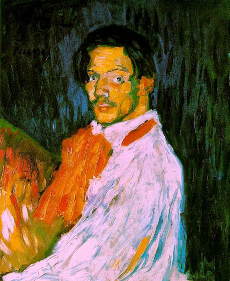 Self portrait: I'm Picasso, 1901, Picasso Pablo, Private collection paintings to artist of ArtRussia