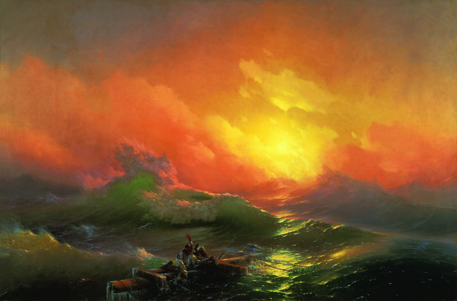 The Ninth Wave, 1850, Aivazovskiy Ivan, The Russian Museum, St.Petersburg paintings to artist of ArtRussia