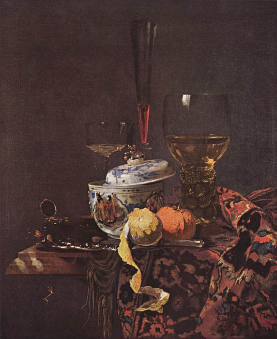 Still Life with Chinese Tureen, 1660, Kalf Willem, Gemäldegalerie, Berlin paintings to artist of ArtRussia