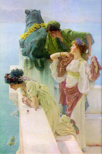 A Coign of Vantage, 1895, Alma Tadema Lawrence, Private collection paintings to artist of ArtRussia