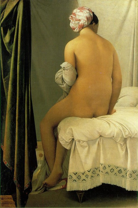 The Valpinçon Bather, 1808, Ingres Jean-Auguste, Louvre, Paris paintings to artist of ArtRussia