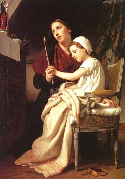 A grateful donation, 1867, Bouguereau Adolphe-William, Museum of Art, Philadelphia paintings to artist of ArtRussia
