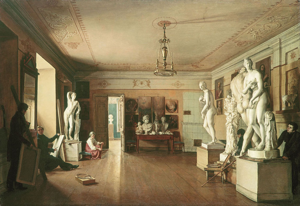 The Painter A.G. Venetsianov's Studio in St Petersburg, 1827, Alexeev Alexander, The Russian Museum, St.Petersburg paintings to artist of ArtRussia