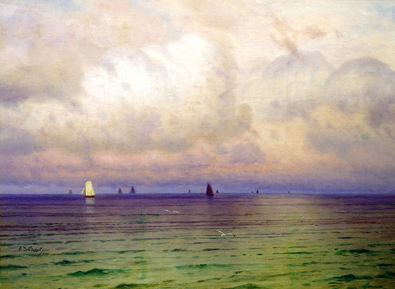 Sea. Sailboats, 1900, Dubovskoy Nikolai, Vladimir-Suzdal State Historical-Architectural and Art Museum-Reserve paintings to artist of ArtRussia