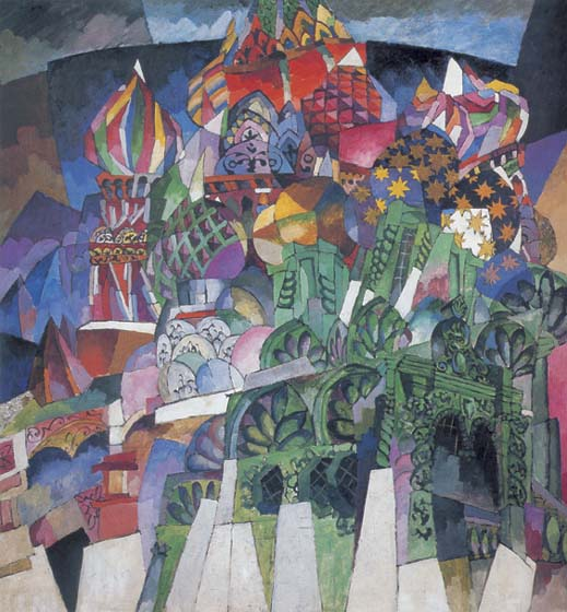 Василия Блаженного, 1913, Lentulov Aristarchus, The Tretyakov Gallery, Moscow paintings to artist of ArtRussia