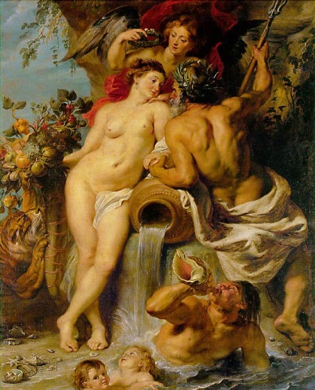 The Union of Earth and Water, 1618, Rubens Peter Paul, Hermitage, St. Petersburg paintings to artist of ArtRussia