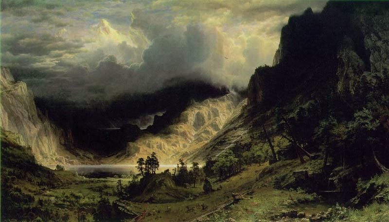 Storm in the Rocky Mountains, 1866, Bierstadt Albert, Brooklyn Museum, New York paintings to artist of ArtRussia