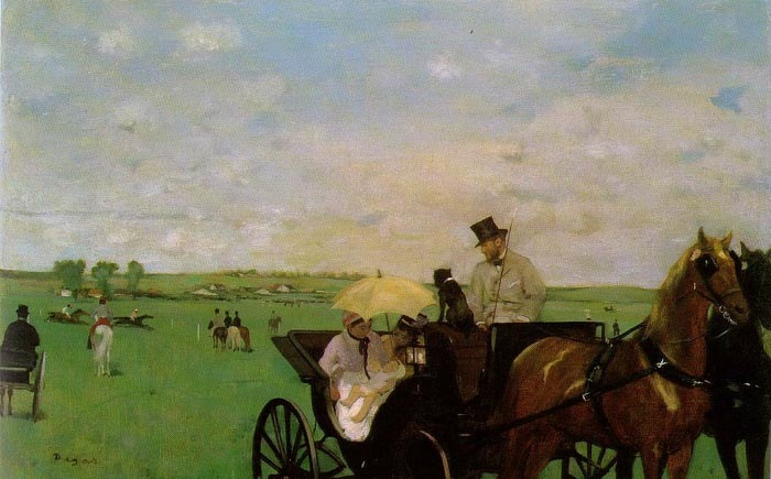 At the races in the village, 1872, Degas Edgar, Museum of Fine Arts, Boston paintings to artist of ArtRussia