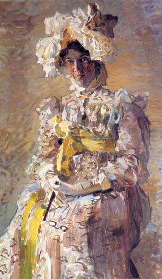 Portrait of the actress of Nadejda Ivanovna Zabeli-Vrubel, 1898, Vrubel Mikhail, The Tretyakov Gallery, Moscow paintings to artist of ArtRussia