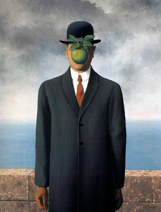 Le fils de l'homme, 1964, Magritte Rene, Private collection paintings to artist of ArtRussia