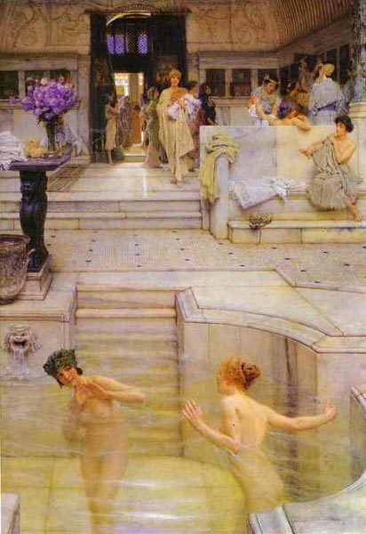 Love Votaries, 1909, Alma Tadema Lawrence, The Tate Gallery, London paintings to artist of ArtRussia