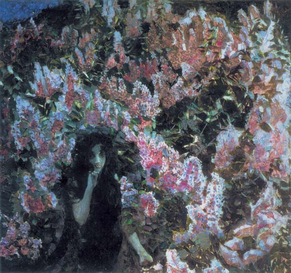 Lilac, 1900, Vrubel Mikhail, The Tretyakov Gallery, Moscow paintings to artist of ArtRussia