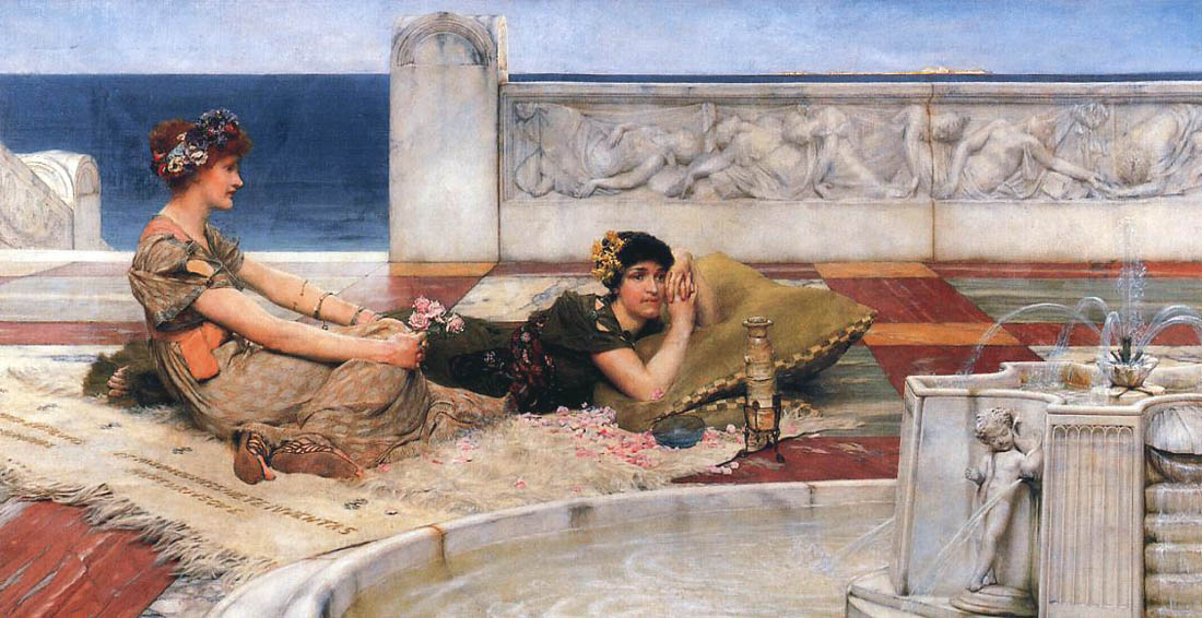Love Votaries, 1891, Alma Tadema Lawrence, Laing Art Gallery, Newcastle-upon-Tyne paintings to artist of ArtRussia