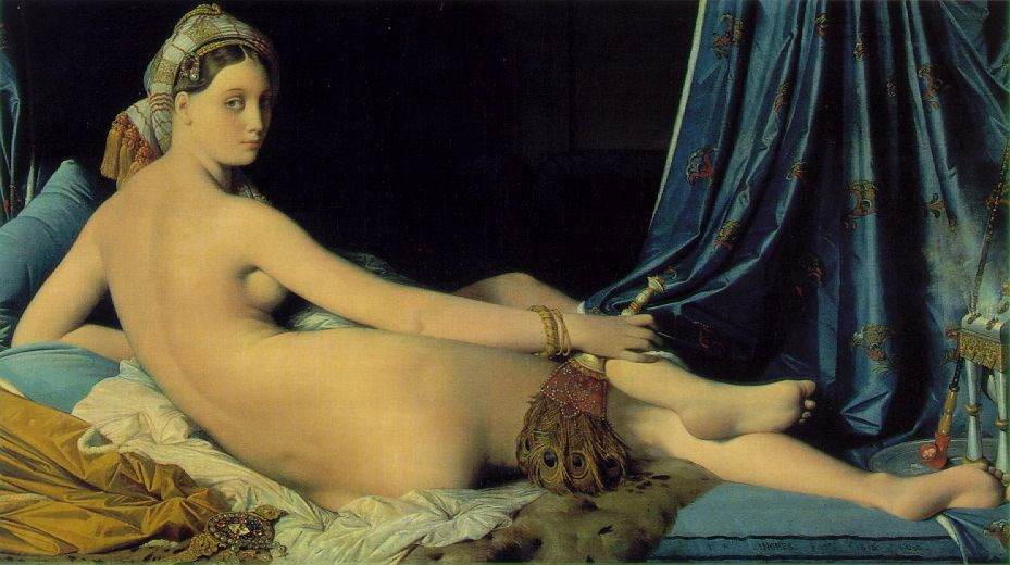 Grande odalisque, 1814, Ingres Jean-Auguste, Louvre, Paris paintings to artist of ArtRussia