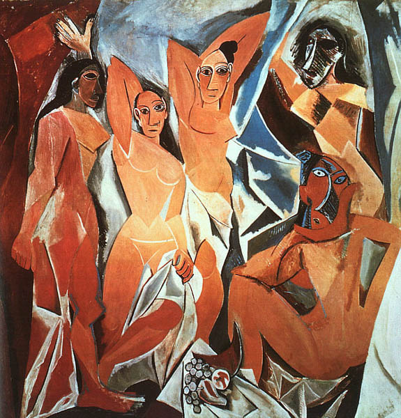 Les Demoiselles d'Avignon, 1907, Picasso Pablo, Museum of Modern Art, New York paintings to artist of ArtRussia