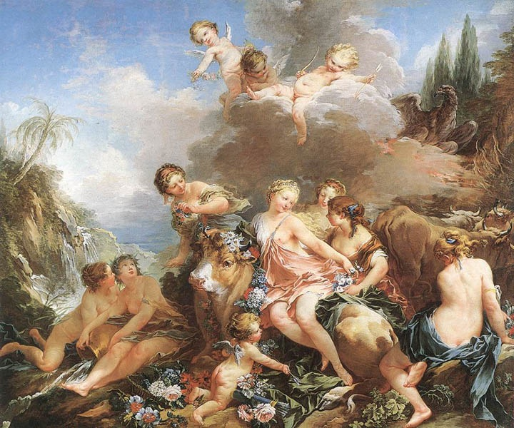 The Rape of Europa, 1734, Boucher Francois, Wallace Collection, London paintings to artist of ArtRussia
