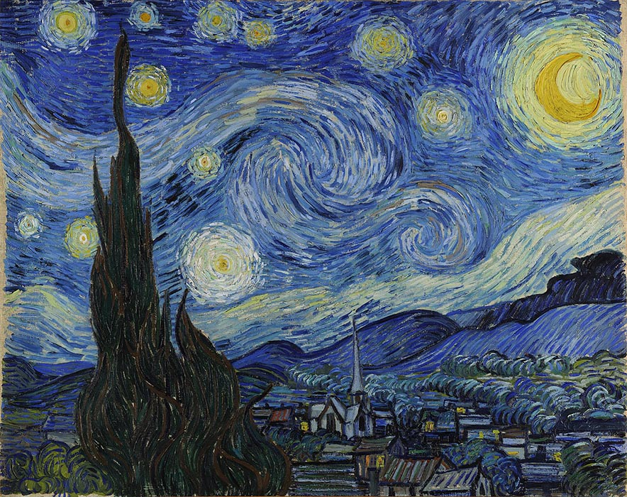 The Starry Night, 1889, Van Gogh Vincent, Museum of Modern Art, New York paintings to artist of ArtRussia