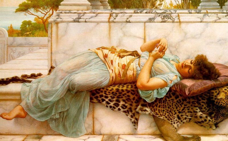 A betrothed, 1892, Godward John William, Guildhall Art Gallery, London paintings to artist of ArtRussia
