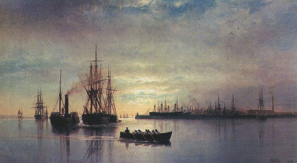 View of Kronstadt raid, 1876, Lagorio Lev, The Russian Museum, St.Petersburg paintings to artist of ArtRussia