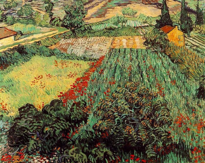Field with Poppies, 1889, Van Gogh Vincent, Kunsthalle, Bremen paintings to artist of ArtRussia