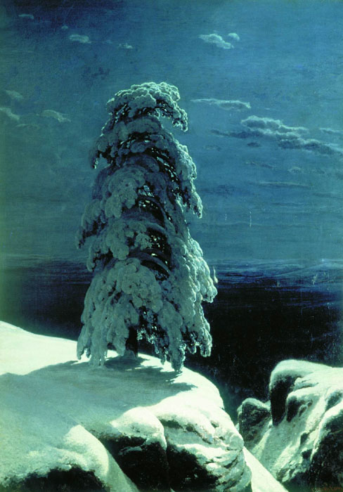 """In the wild north ..."", 1891, Shishkin Ivan, The Kiev Museum of Russian Art paintings to artist of ArtRussia"