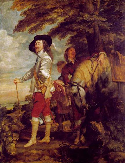 Charles I, King of England, on the hunt, 1635, Van Dyck Anthony, Louvre, Paris paintings to artist of ArtRussia