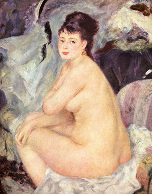 Nude (Mademoiselle Anna), 1876, Renoir Pierre-Auguste, Pushkin Museum, Moscow paintings to artist of ArtRussia