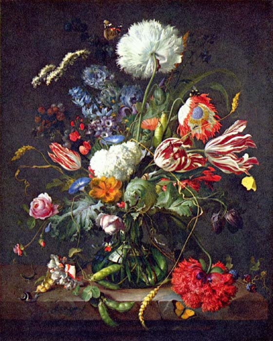 Still life with flower vase, 1645, Heem Jan Davidsz de, National Gallery of Art, Washington paintings to artist of ArtRussia