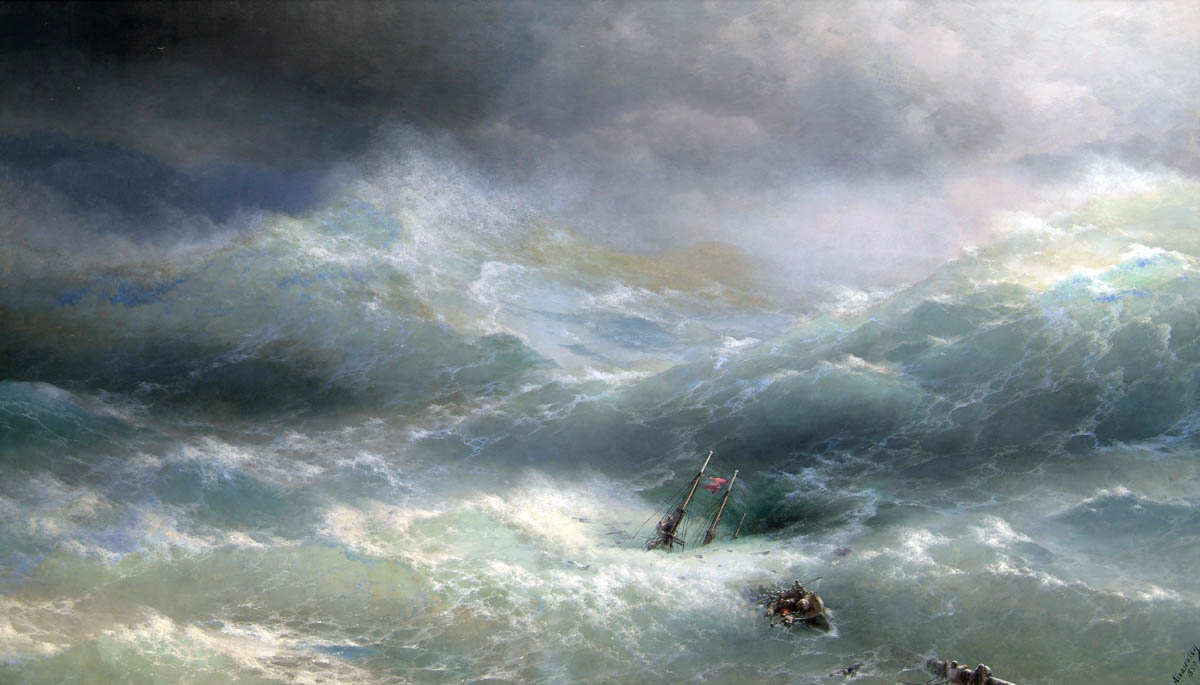 Wave, 1889, Aivazovskiy Ivan, The Russian Museum, St. Petersburg paintings to artist of ArtRussia