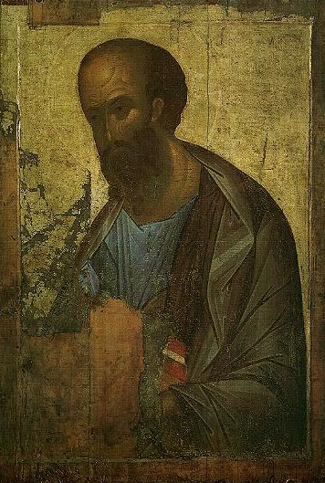 Apostle Paul, 14хх, Rublev Andrei, The Tretyakov Gallery, Moscow paintings to artist of ArtRussia