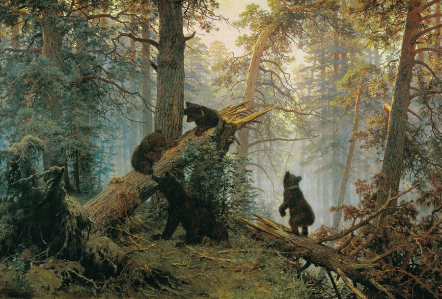 Morning in a Pine Forest, 1889, Shishkin Ivan, The Tretyakov Gallery paintings to artist of ArtRussia