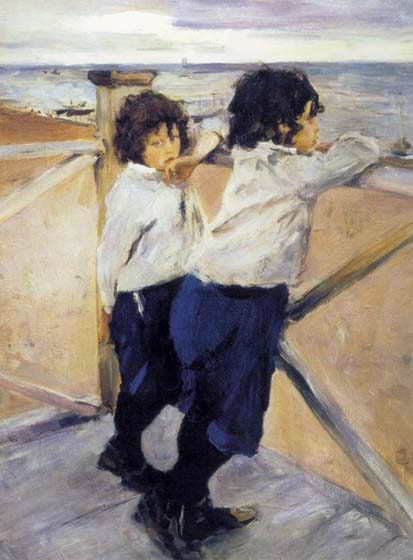 Children, 1899, Serov Valentin, The State Russian Museum, St. Petersburg paintings to artist of ArtRussia