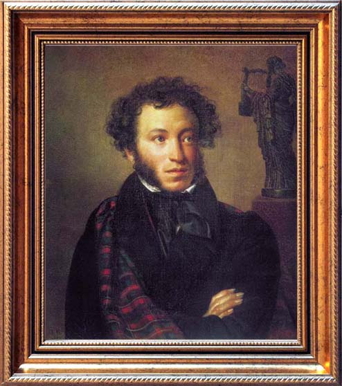 Portrait of A.S.Pushkin, 1827, Kiprensky Orest, The Tretyakov Gallery, Moscow paintings to artist of ArtRussia