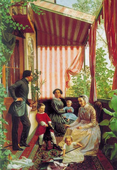 On the Balcony, 1851, Slavyansky Feodor, The Russian Museum paintings to artist of ArtRussia