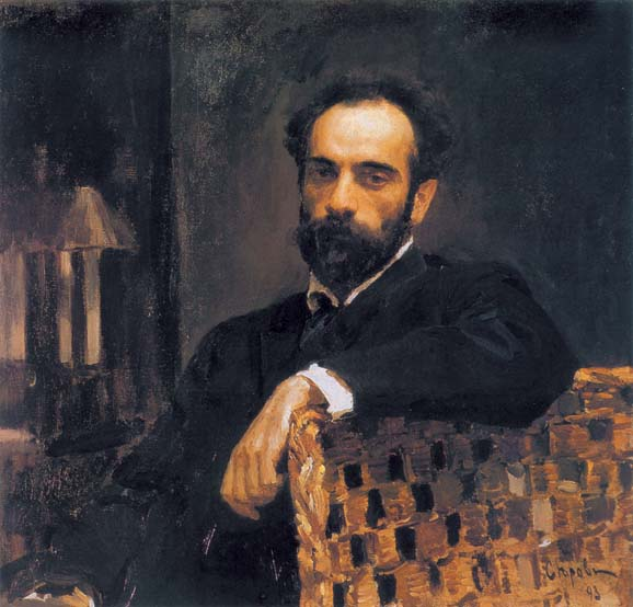 Portrait of artist Isaak Iliicha Levitan, 1893, Serov Valentin, The Tretyakov Gallery, Moscow paintings to artist of ArtRussia