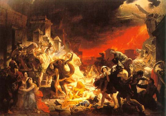 The Last Day of Pompeii, 1833, Bryullov Karl, The Russian Museum, St.Petersburg paintings to artist of ArtRussia