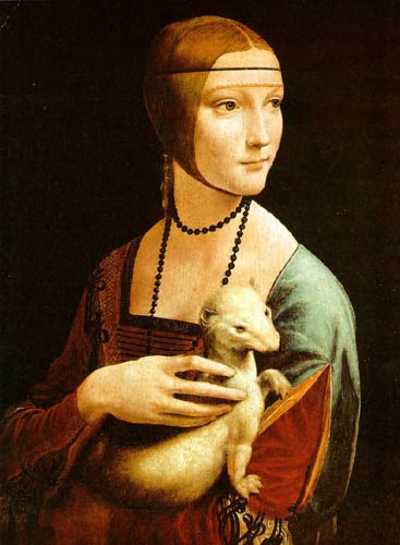 Portrait of a Lady with an Ermine, 1483, Vinci Leonardo da, The National Museum, Krakow paintings to artist of ArtRussia