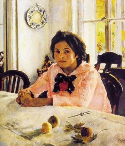The Girl with Peaches. Portrait of Vera Mamontova