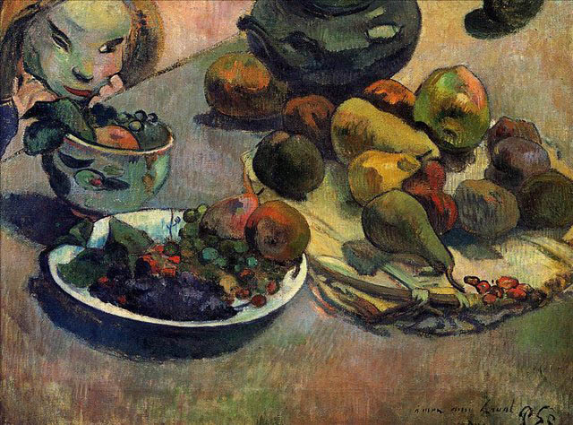 Still Life with Fruit, 1888, Gauguin Paul, Pushkin Museum, Moscow paintings to artist of ArtRussia
