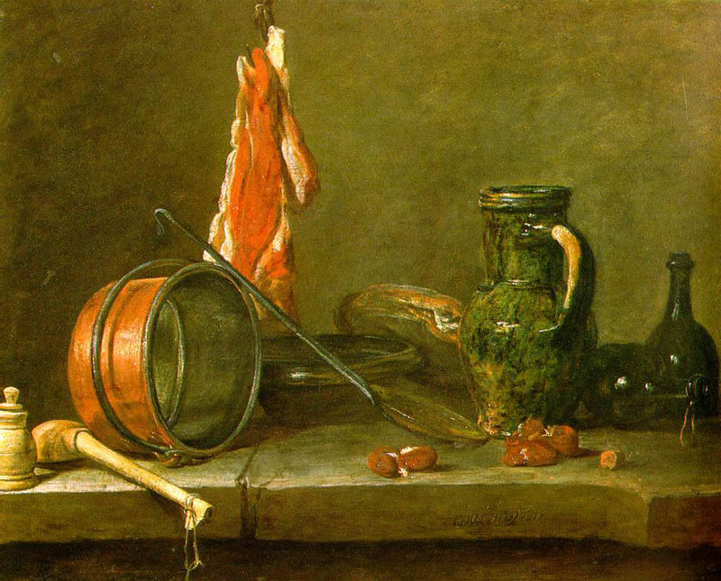 Still life with meat, 1731, Chardin Jean-Baptiste Simeon, Louvre, Paris paintings to artist of ArtRussia
