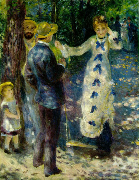 Swing, 1876, Renoir Pierre-Auguste, Musee d'Orsay, Paris paintings to artist of ArtRussia