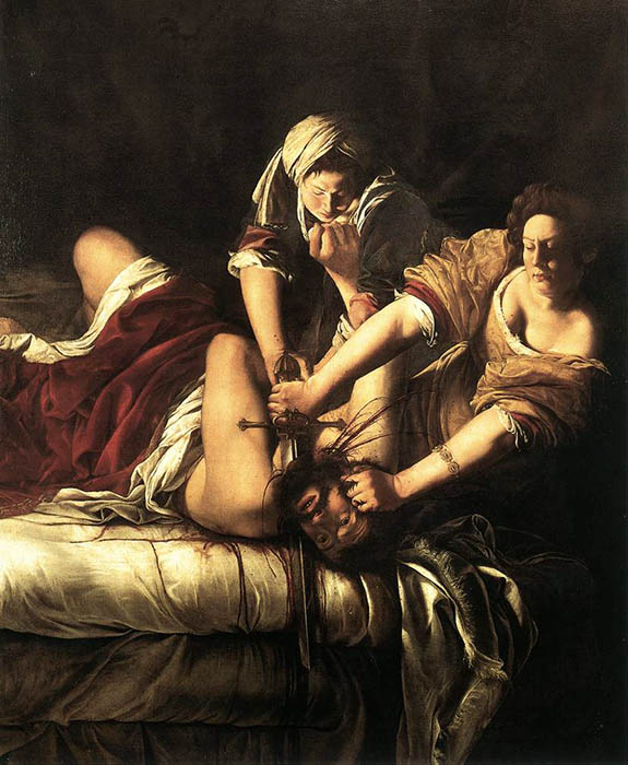 Judith Slaying Holofernes, 1614-1620, Gentileschi Artemisia, Galleria degli Uffizi, Florence paintings to artist of ArtRussia