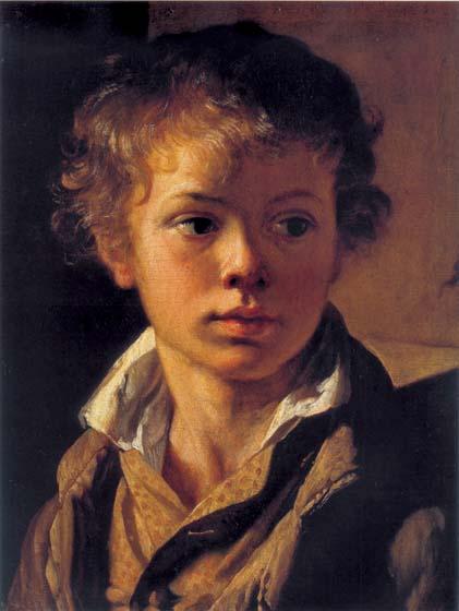 Portrait of the Artist's Son A.V.Tropinin, 1818, Tropinin Vasily, The Tretyakov Gallery paintings to artist of ArtRussia