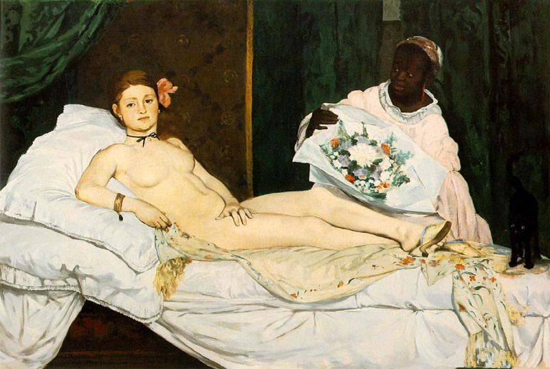 Olympia, 1863, Manet Edouard, Museum d'Orsay, Paris paintings to artist of ArtRussia