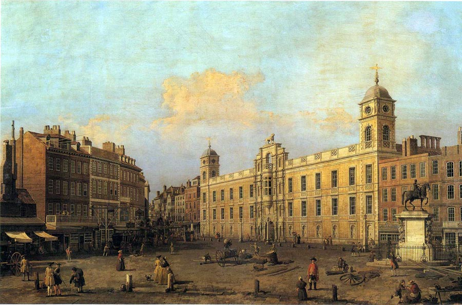 London. House of the Duke of Northumberland, 1752, Canaletto (Canal) Giovanni Antonio, Collection of the Duke of Northumberland paintings to artist of ArtRussia