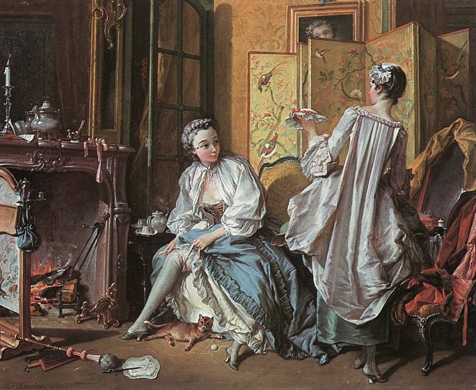 The Toilet, 1742, Boucher Francois, The Thyssen-Bornemisza Museum, Madrid paintings to artist of ArtRussia